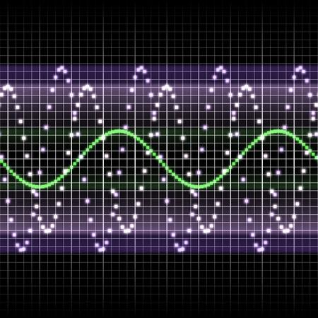 Radio-Frequenz-Display mit Sinuswellen Standard-Bild - 9953004