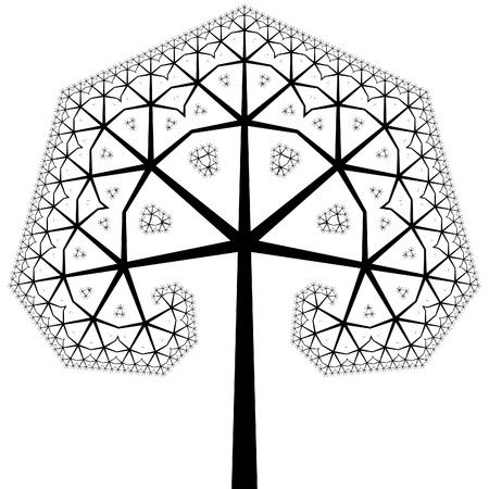 Computer gegenereerde boom met fractal vormen