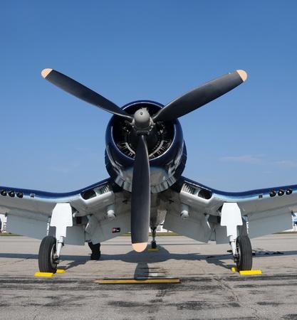 world war ii: World War II era propeller driven fighter plane