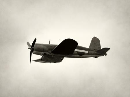 avion de chasse: Wolrd War II avion de chasse en vol ère
