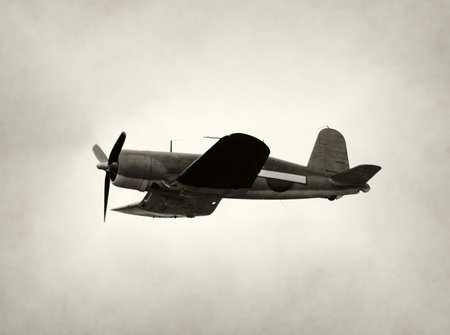 Wolrd War II era fighter airplane in flight photo