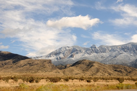 Mountain scenery from the Sandia mountains in New Mexico Stock Photo