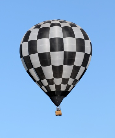 Hot air balloon with checkered colors photo