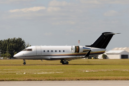 land transportation: Business jet airplane for executive travel