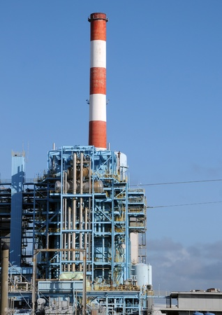 Modern industrial installation at oil refinery