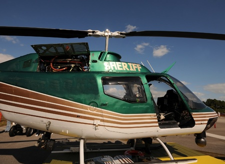 Sheriff helicopter used for law enforcement and patrols