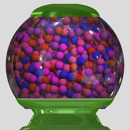 球型キャンディ マシン ガムのフル