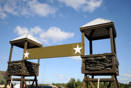 checkpoint: Military camp front entrance and checkpoint Editorial
