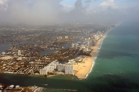Aerial view of the Fort Lauderdale, Florida coastline photo