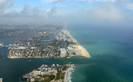fort lauderdale: Aerial view of Fort Lauderdale Beach, Florida