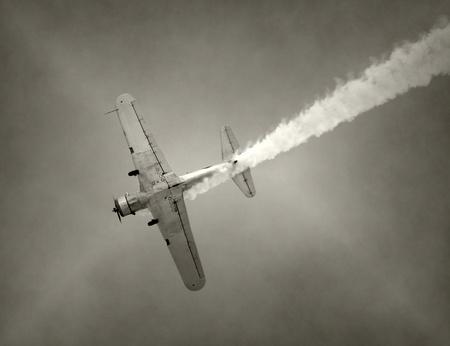 비행 중에 제 2 차 세계 대전 시대 전투기