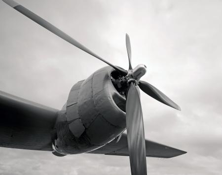 Motor en proleller van zware WW2 era bommenwerper