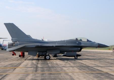 modern fighter: Moderno jet da combattimento aereo in vista laterale a terra Editoriali