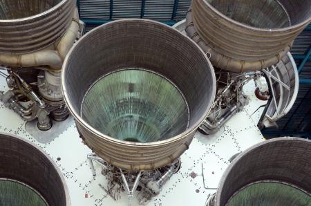 Puissante fusée gros plan moteurs vue Banque d'images - 15655361