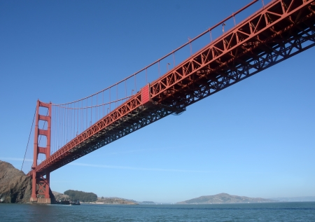 Golden Gate bridge, landmark in San Francisco, California