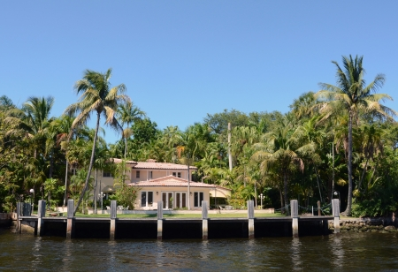 waterway: Luxury waterfront home in lush tropical setting