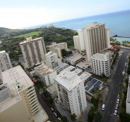 distant: Aerial scenery from Honolulu, Hawaii