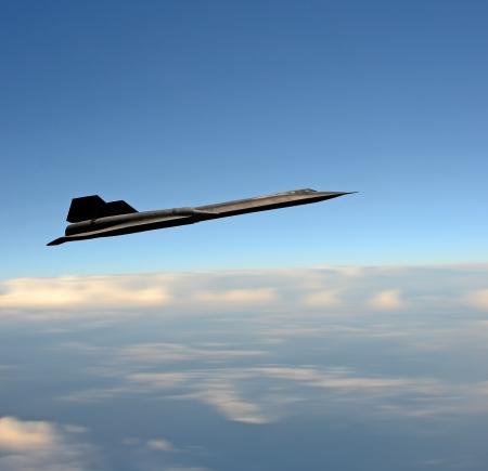 Hoge vliegende verkenning spion vliegtuig op een missie