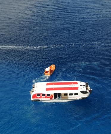 Open water ocean search and rescue operation 版權商用圖片