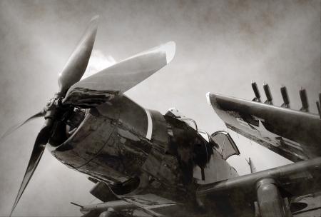 Tweede Wereldoorlog Marine gevechtsvliegtuig met opgevouwen vleugels