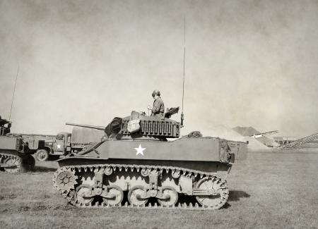전투에서 제 2 차 세계 대전 시대 미국 탱크
