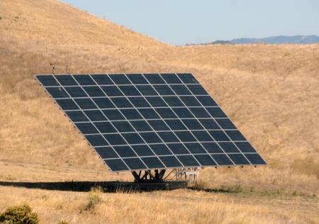 Large solar panel on a roadside in California Stock fotó