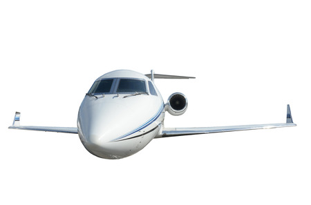 corporate airplane: Modern corporate jet airplane isolated on white