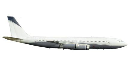 Jet vliegtuig van de vroege jet-era zijaanzicht geïsoleerd