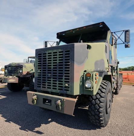 Modern army trucks for heavy cargo