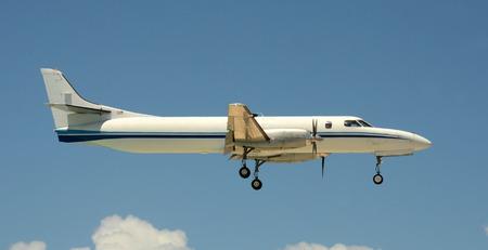 turboprop: Modern turboprop airplane carrying light cargo