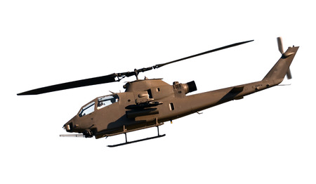 Army attack helicopter isolated on white 版權商用圖片