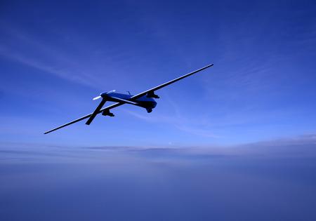 Surveillance drone op de avond patrouille Stockfoto