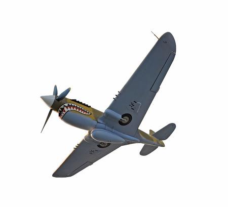 world war ii: World War II era fighter plane isplated on white