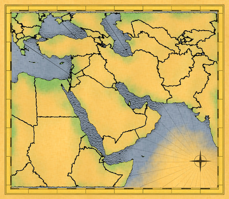 middle east: Middle East ancient map