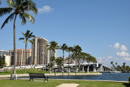 fort lauderdale: Scenic view of the intracostal waterway and bridge in Fort Lauderdale Florida