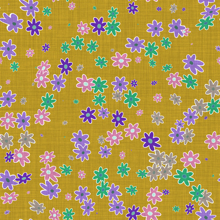 tiling: Canvas with floral pattern and seamless tiling for background