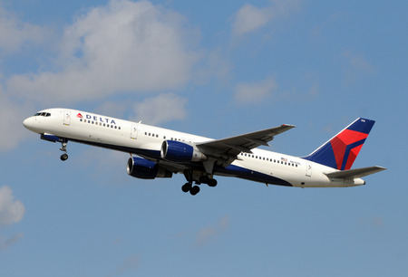 jetliner: Atlanta, USA - January 11, 2009: Delta Airlines Boeing 757 passenger jet taking off from Atlanta on January 11, 2009. Delta has started a selection program to replace its aging fleet of 757s
