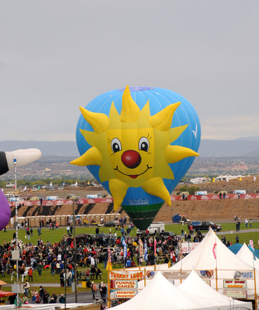nm: Albuquerque, USA - October 7, 2011: Colorful hot air balloons particiapting in the annual International Balloon Fiesta in Albuquerque, NM. Editorial