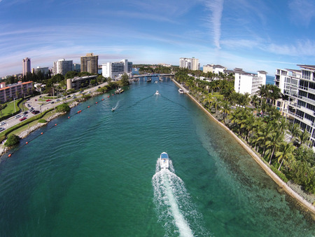 waterways: Aerial view of waterways near Boca Raton, Florida