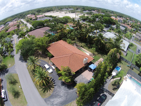 residential neighborhood: Suburban homes in FLorida seen from above