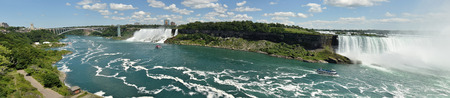 Niagara Falls panoramic view seen from canadian side