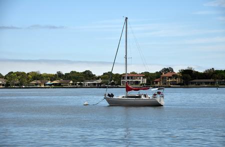 waterways: Sailboat in the waterways of Saint Augustine Florida