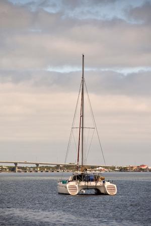 waterways: Catamaran in the waterways of Saint Augustine Florida