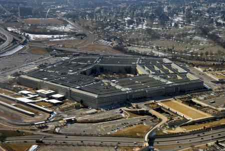 Amerikaanse ministerie van Defensie Petagon van bovenaf gezien