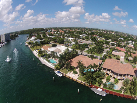 my home: Luxury waterfront homes in Florida aerial view