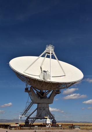 Giant radio telescope pointed into the sky