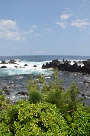 Rugged coastline of the Big Island, Hawaii