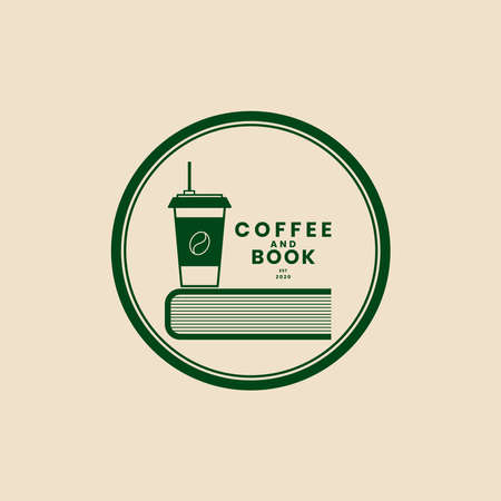 Editable coffee logo and book template for coffee shop logos