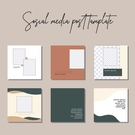 Social media post templates to beautify your posts on social media 向量圖像