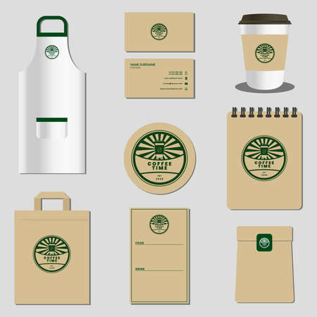 Branding template for a coffee shop business
